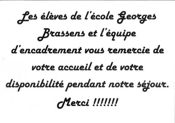 Petit retour de l'école Georges Brassens de Cleguer