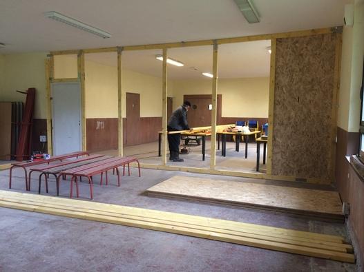 création de vestiaires pour les travaux