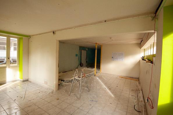 Arcouade : démolition des bureaux