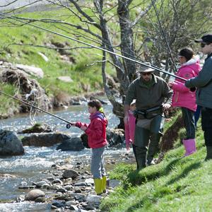 Classe pêche dans les Pyrénées