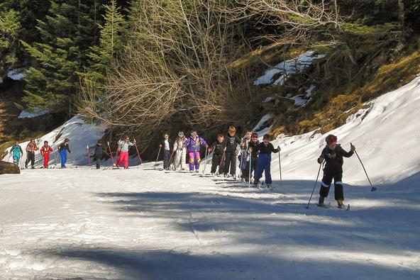 Ski de fond à la Prade